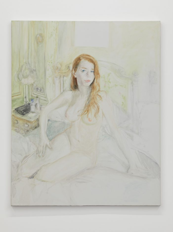 Emily au Ritz, oil on canvas, 100 x 80 cm (39 ⅜ x 31 ½ inches)