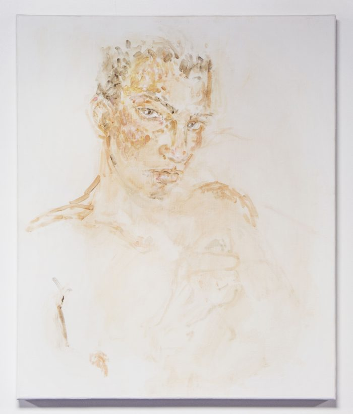 Male (2), 2015, acrylic on canvas, 50 x 60 cm (23 5/8 x 19 5/8 in.)