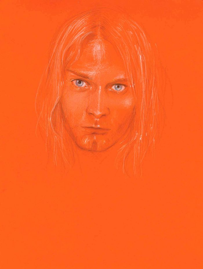 Kurt Cobain (2), 2014 colored pencil on paper 28 x 21 cm (11 x 8 1/4 in.)
