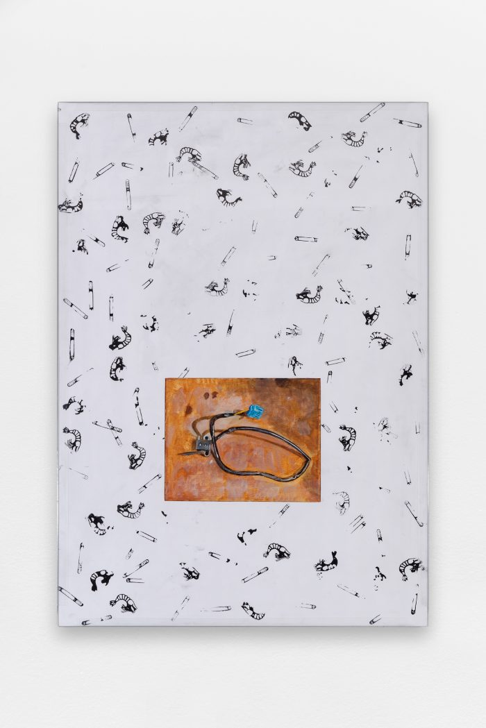 Collaboration with Will Benedict, Untitled, 2015, acrylic on canvas, acrylic on foamcore, aluminum and glass, 84,5 x 59,5 cm (33 ¼ x 23 ⅜ in.)