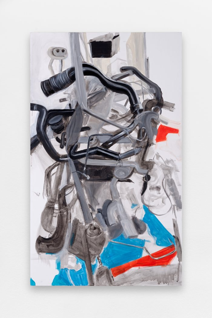 Untitled, 2015, acrylic on canvas, 162 x 97 cm (63 3/4 x 38 1/4 in.)
