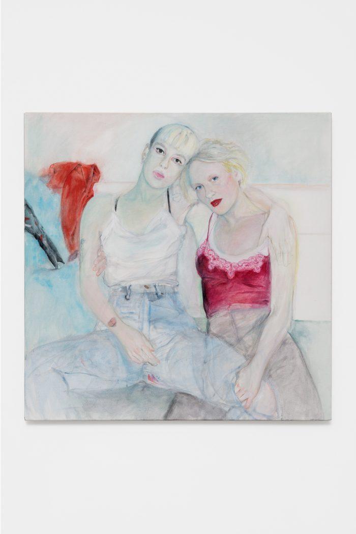 Dora Diamant & Karin Westerlund, 2018, oil on canvas, 80 x 80 cm