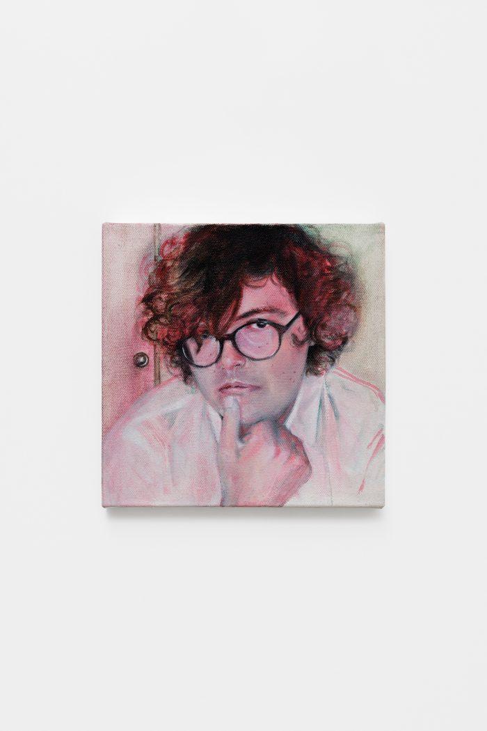 Ken Okiishi, 2017-2018, oil on canvas, 25 x 25 cm