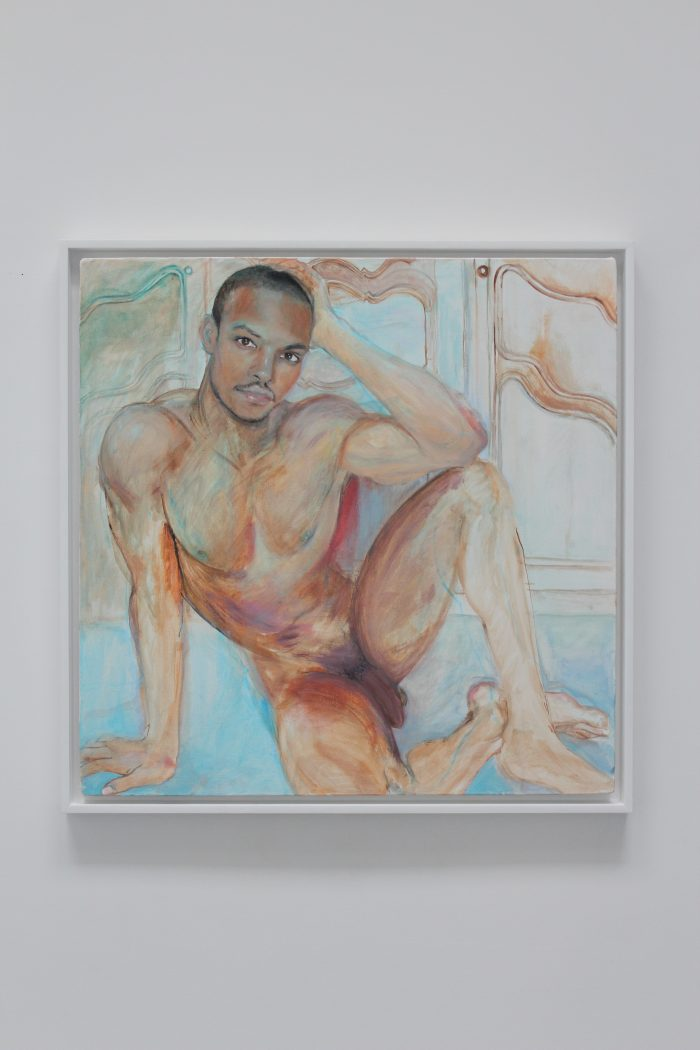 JeanPaul, 2018 Oil on canvas, frame: painted wood 60 x 60 cm (23 5/8 x 23 5/8 inches) framed : 64,5 x 64,5 cm (25 25/64 x 25 25/64 in.)